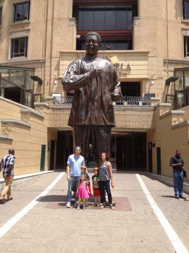 Family and Nelson Mandela