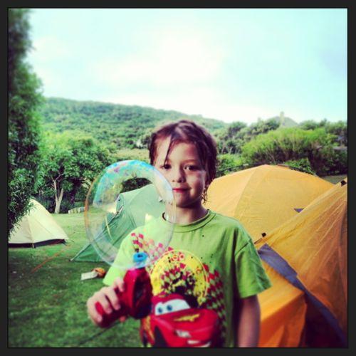 Noah and a big bubble instagram