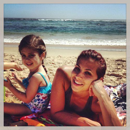 Selah and Mom on beach #2