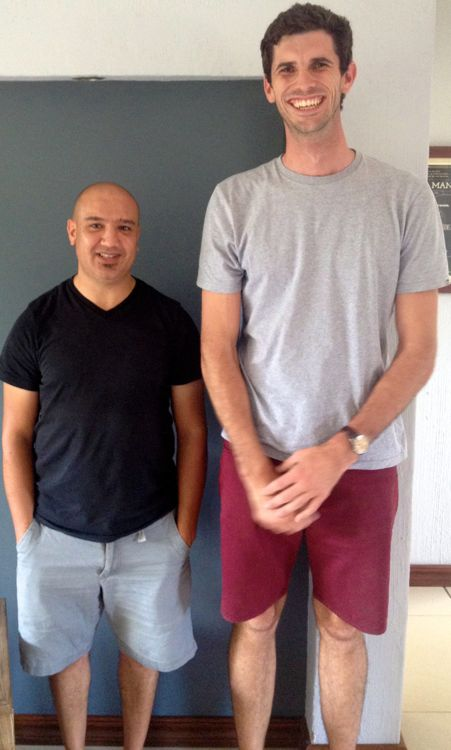 some friends make us feel short (Fouad and Danie in Jo-Burg)