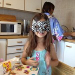 Selah with cat mask on